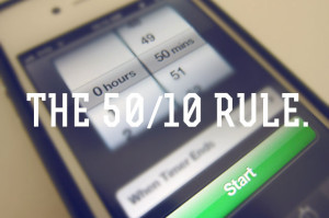 Use the 50-10 Rule to Stay Productive